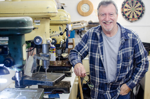 Dave Cox in his workshop