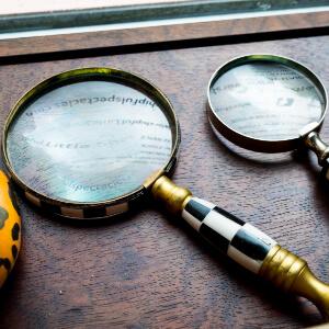 Vintage magnifying glasses